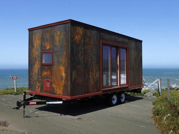 "Tiny Houses: Living Large in a Small Space: Tiny houses redefine the term ""mobile home."" For lifelong nomads, one of the most enticing factors of these structures is their potential for portability — many are outfitted with wheels that allow them to be pulled behind a vehicle then parked at the next destination. From DIYnetwork.com"