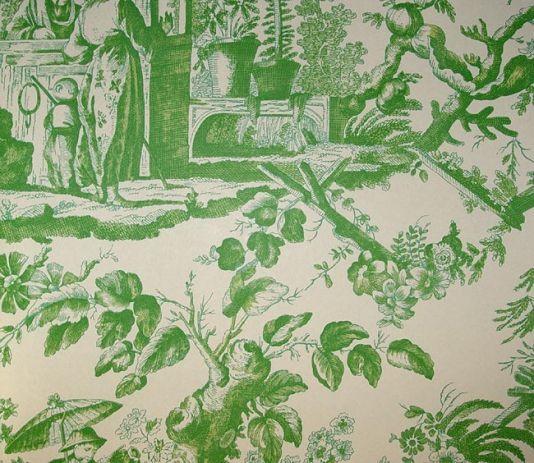green toile wallpaper pretty pretty pinterest