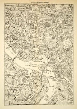 Amazon.com: 1907 Print Map Old Fashioned Rome Italy Island Ponte Nelly ...