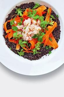 Crab, black quinoa, edamame and carrot | The Times