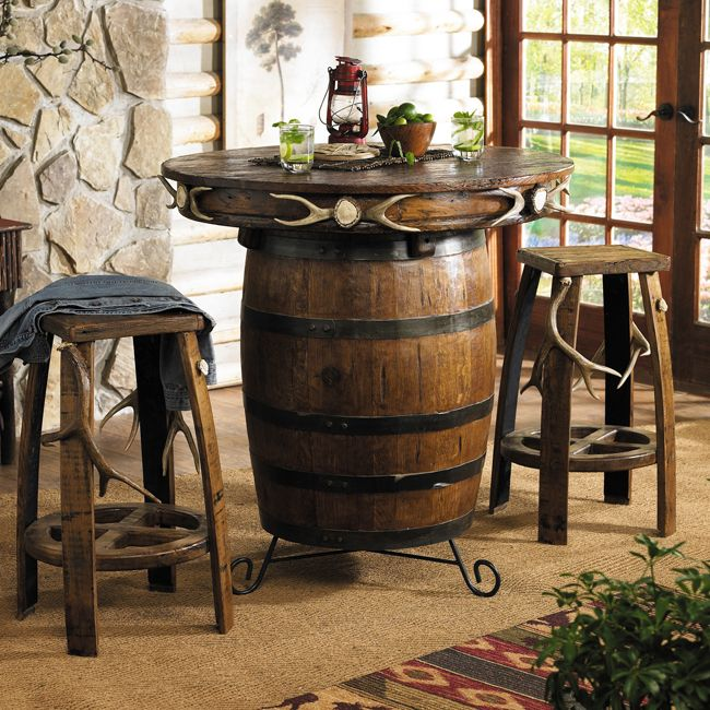Antler amp Barrel Pub Table Bar Stools My Style Pinterest
