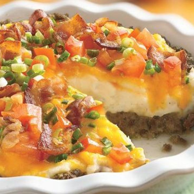 Ground Beef and Twice-Baked Potato Pie Recipe from Grandmothers ...