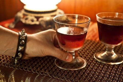 Black Metal Manhattan #drinks #cocktails #whiskey