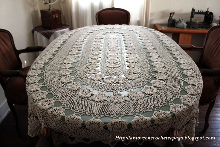 CROCHET - Mantel ovalado a crochet Faaa2042cea2f258dfdd818a4cbaf1f4