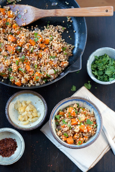 toasted israeli couscous with winter squash & preserved lemon