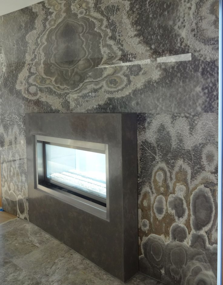 Laguna Beach residence Venetian Plaster fireplace done by
