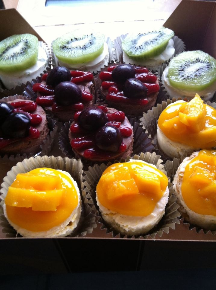 Coconut Cream Cakes: Kiwi Lime, Chocolate Cherry, and Vanilla Mango ...