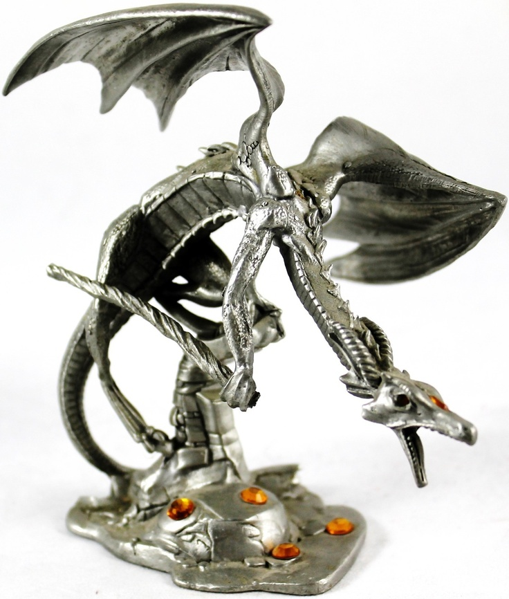 Pin by weboys10 on dragons wizards pinterest - Pewter dragon statues ...