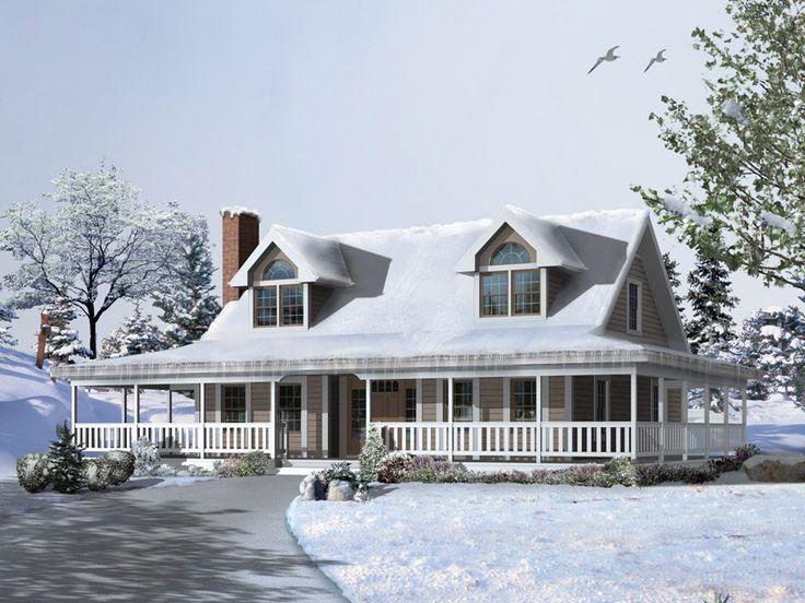Cape cod with wrap around porch for Cape cod house plans with wrap around porch