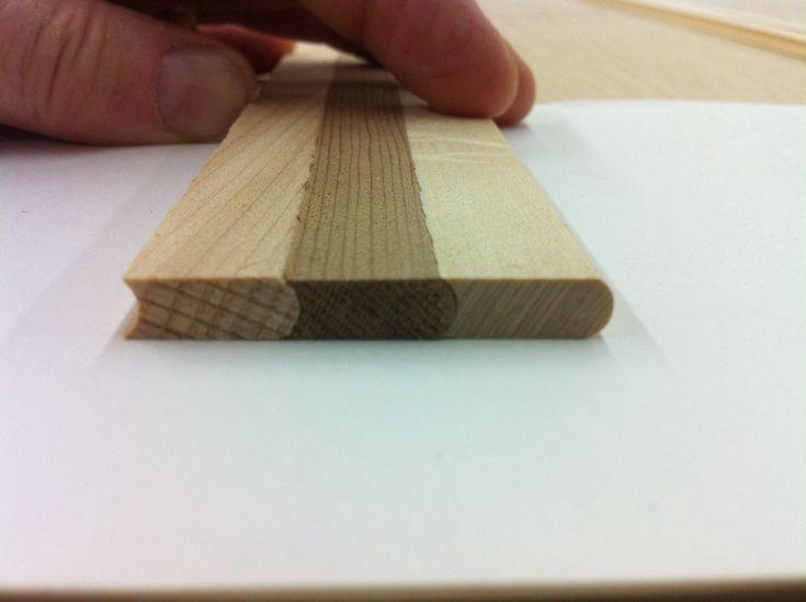 Cove and bead cedar strips