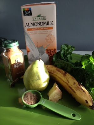 Ginger Pear Smoothie.). Made it Thursday morning and shared it with ...