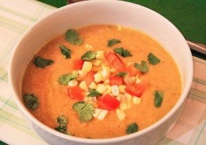 Creamy and Spicy Corn Soup Ingredients5 ears fresh sweet corn 1 medium ...