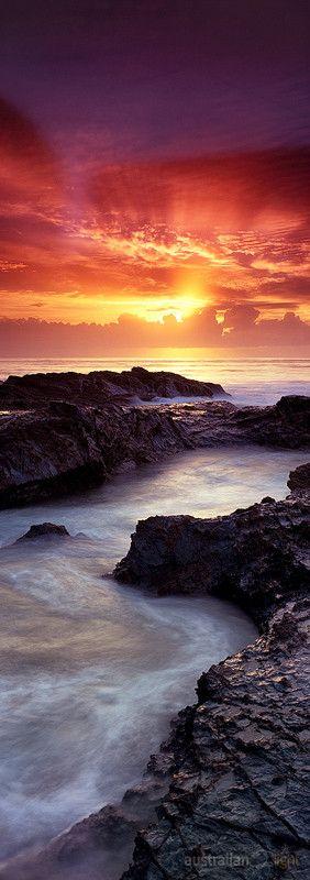 The sun rises over the Australian Gold Coast.