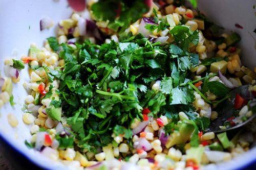 Pioneer Woman Fresh corn and avocado salsa...
