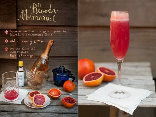 blood orange mimosa | Cocktails and Drinks | Pinterest