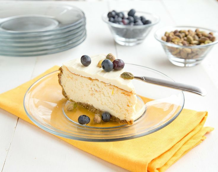 Meyer Lemon Cheesecake with a White Chocolate Topping   Recipe