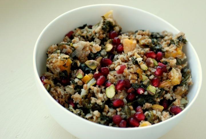 Bulgur Pilaf Salad with Pomegranate, Dried Apricots, Pistachios and ...