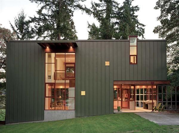 Dark Grey Black Vertical Siding Whisenhouse Exterior