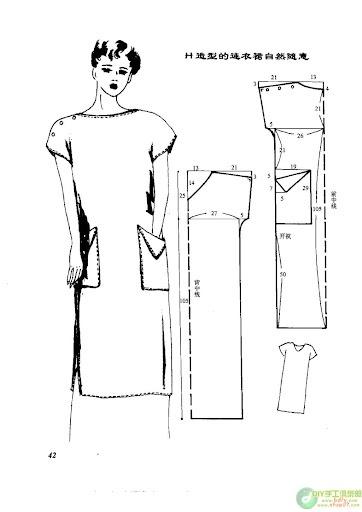 Выкройка платья простого кроя