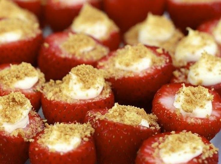 cheesecake stuffed strawberries | Princess | Pinterest