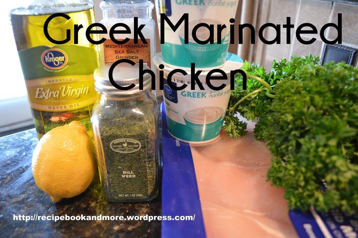 Freezer Meal: Greek Marinated Chicken | Healthy Freezer Make Ahead Me ...