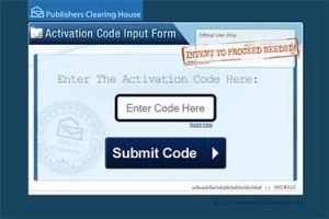 PCH Activation Code Input Form. How would you like to become the next