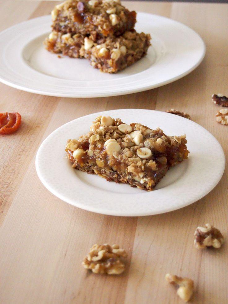 Apricot Oat Nut Bars #SundaySupper | Recipe