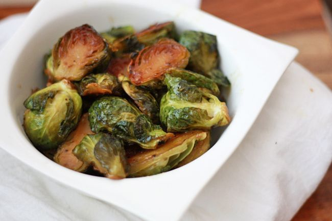 Roasted Maple Dijon Brussels Sprouts (vegan)