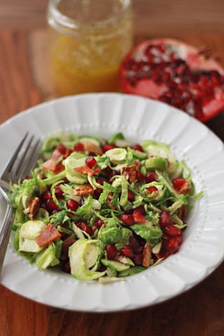 Apple And Pomegranate Brussels Sprout Salad Recipe — Dishmaps