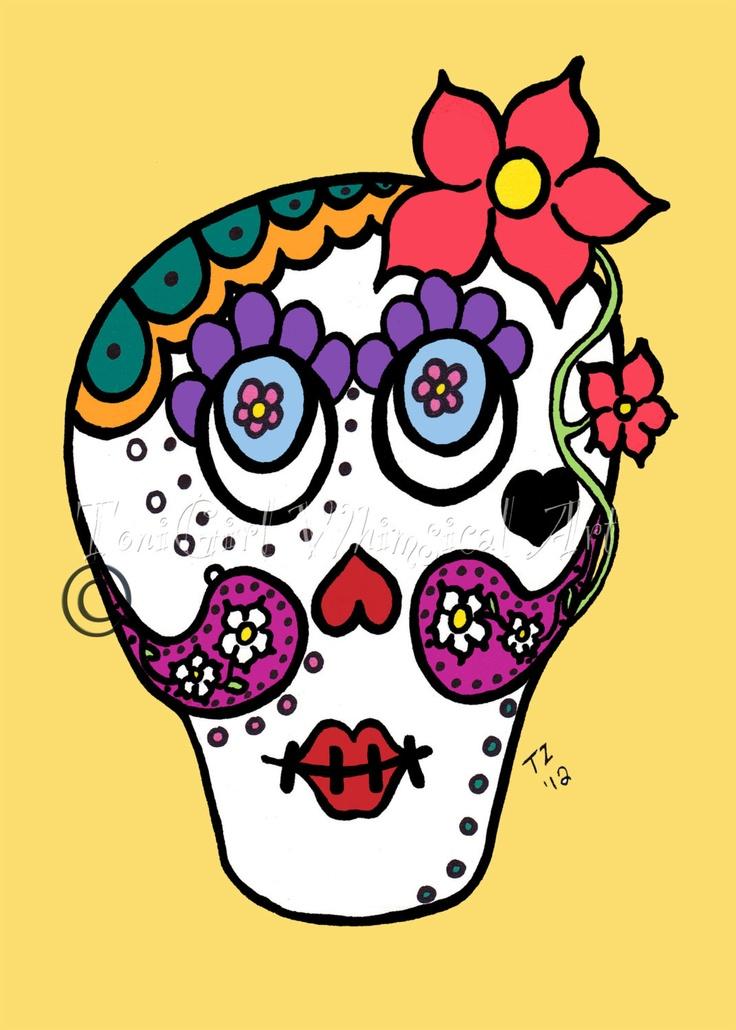 Sugar Skulls & Bones.. on Pinterest | Sugar Skull, Day Of ...