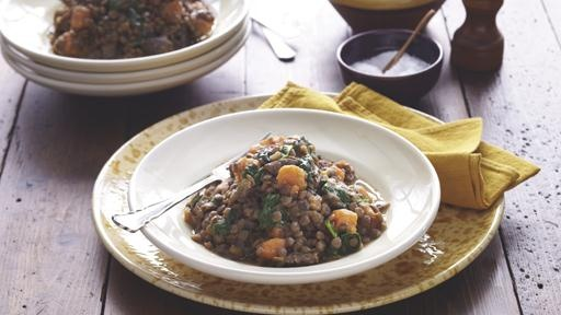 Curtis Stone - Lamb Shank Braised Lentils with Sweet Potato and ...