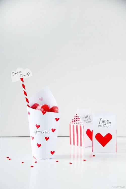 Cajitas para chucherías para San Valentin >> ValentineTreat Box