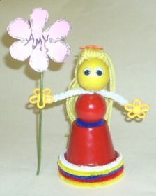 flower girl   diy craft project with instructions from craftbits