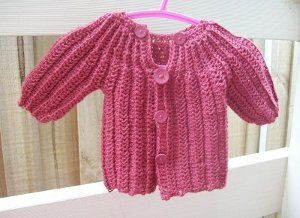Free Crochet Pattern For One Piece Baby Sweater : One piece crochet baby sweater pattern felted wool ...