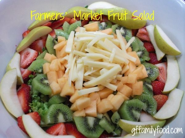 Farmers' Market Fruit Salad | Healthy Living | Pinterest