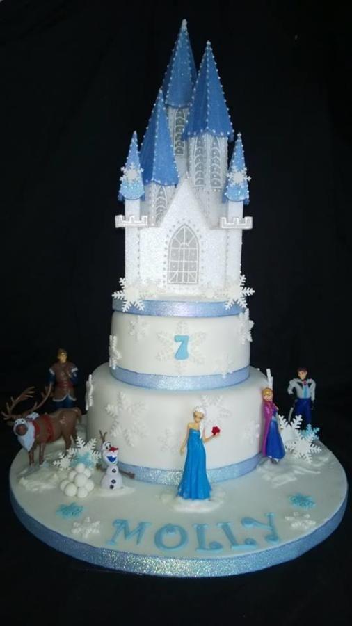 Frozen Princess Castle Cake  Disneys Frozen Cakes  Pinterest