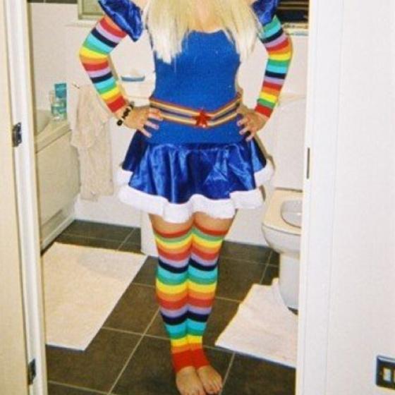 Adult brite costume halloween rainbow