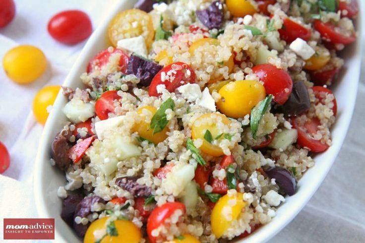 Greek Quinoa Salad from MomAdvice.com.   Recipes I Want to Try   Pint ...