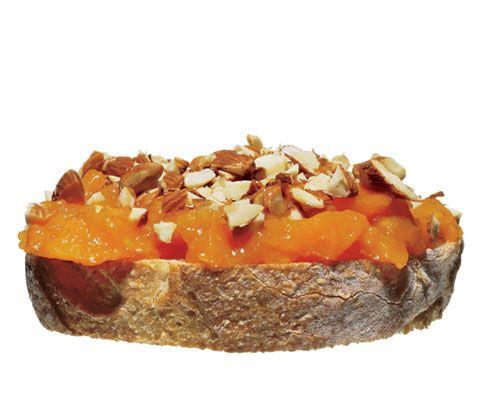 combination you like, such as banana, honey, and almonds; avocado ...
