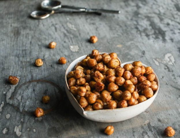 Spicy Roasted Chickpeas. Low-iodine: Use dried chickpeas and no-iodine ...