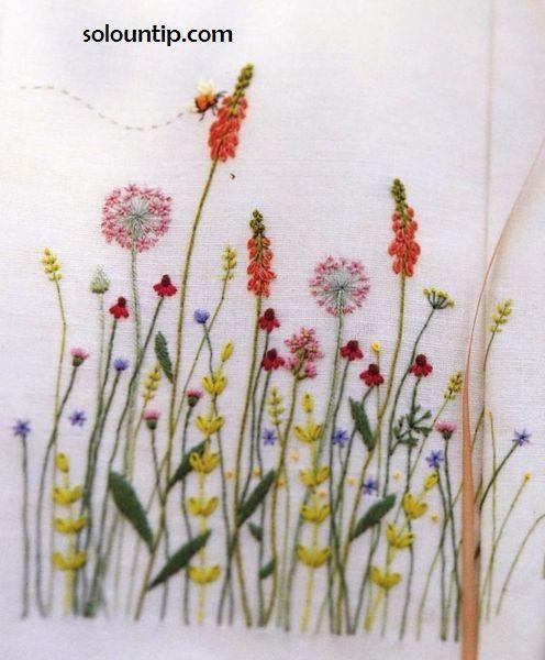 Graficos de bordado en flores