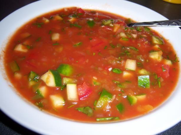 Spicy Herbed Summer Gazpacho. Photo by EmmyDuckie