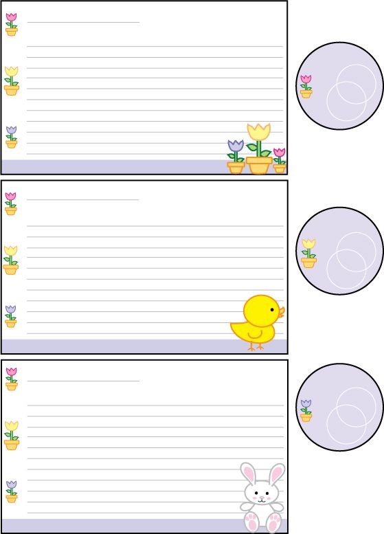 Cutesy Easter | Printable Recipe Cards & Clip Art | Pinterest