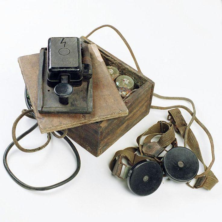 Clandestine radio made from used parts by the French Resistance.