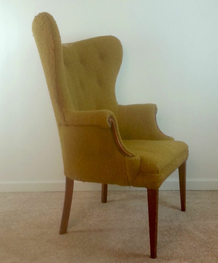 Vintage Butterfly Wingback Chair Sheraton Hepplewhite