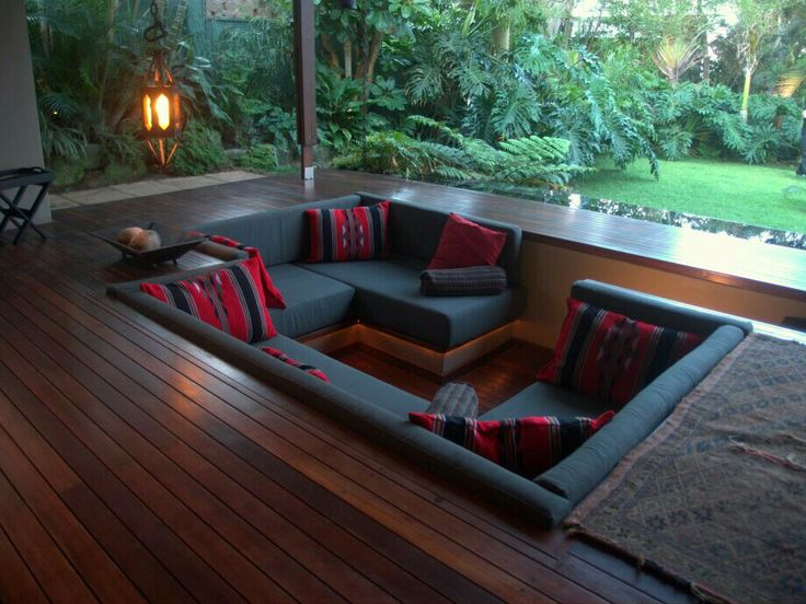 conversation pit beautiful homes pinterest