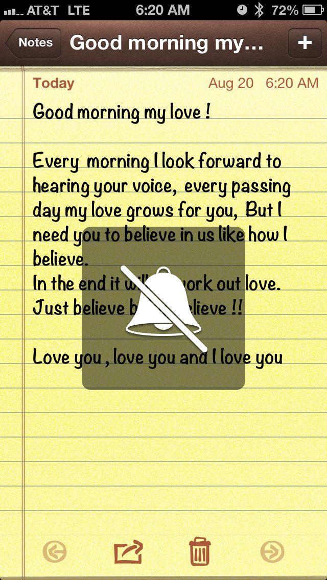Good morning baby,