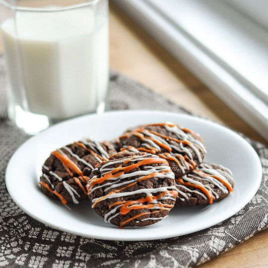 Two-Bite Nutella Chocolate Cookies - get rid of the orange and they're ...