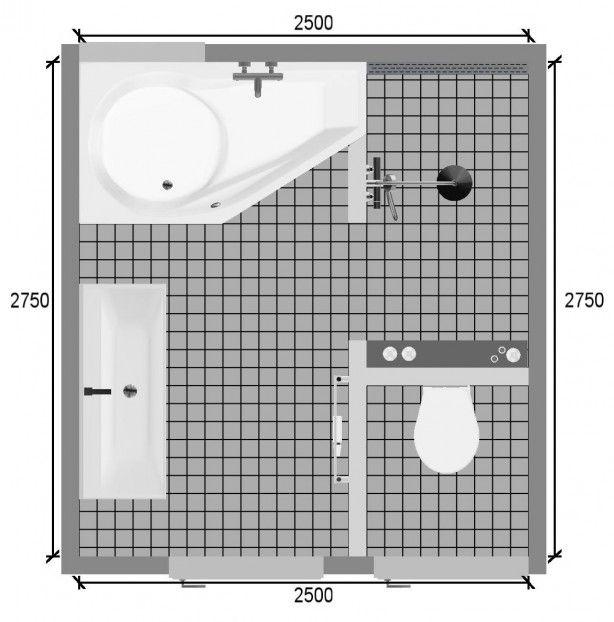 Commode Voor Op Badkamer ~ plattegrond kleine badkamer  Badkamer  Bathroom  Pinterest