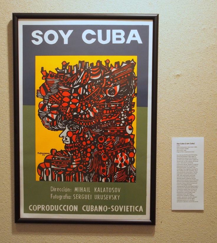 Cuba cuban poster film art from behind the iron curtain pin